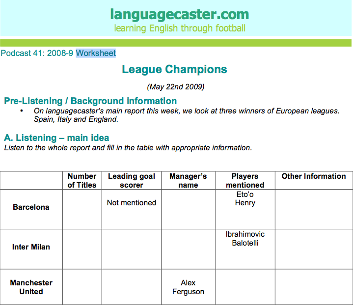 Main Listening Report: 2012-13 Champions League Preview